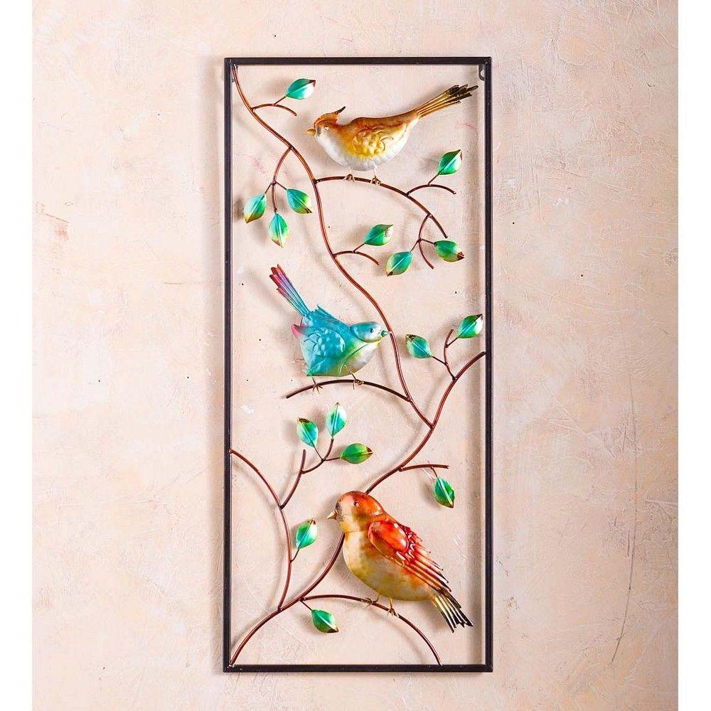 Indoor Outdoor Metal Bird Vertical Wall Art Plow Hearth In