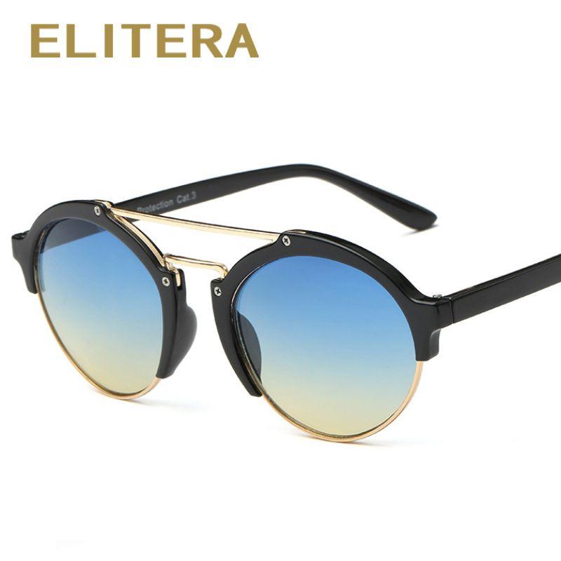 ELITERA 2017 Round Frame Sunglasses Women Men Sun Glasses Vintage ...