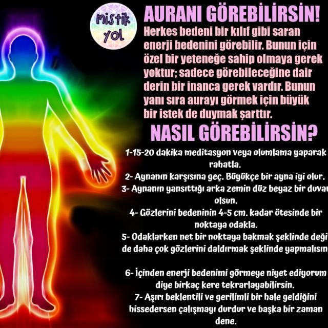 AURANI GÖREBİLİRSİN! #mistikyol #aura #auragörmek # ...