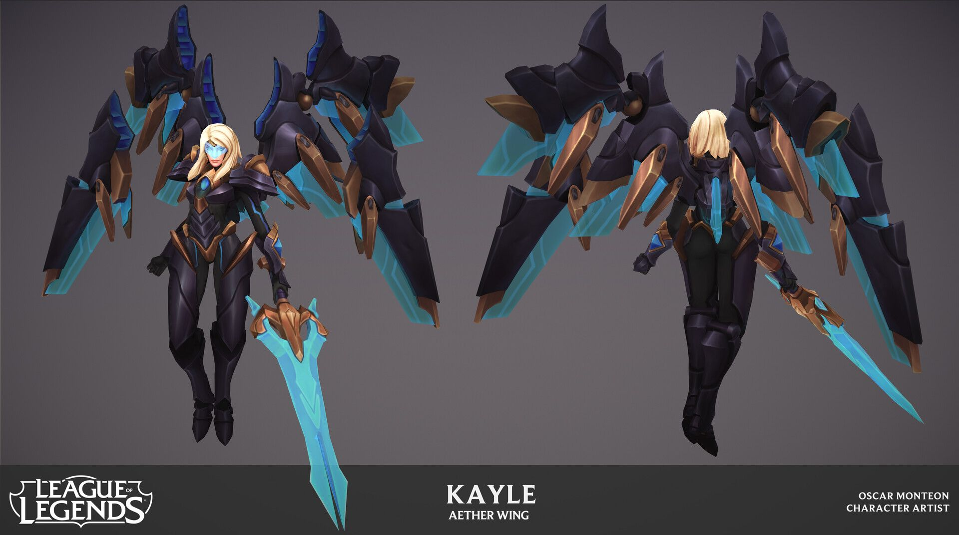 Artstation Aether Wing Kayle Oscar Monteon Wings 3d Characters 3d Art Aether wing kayle league of legends
