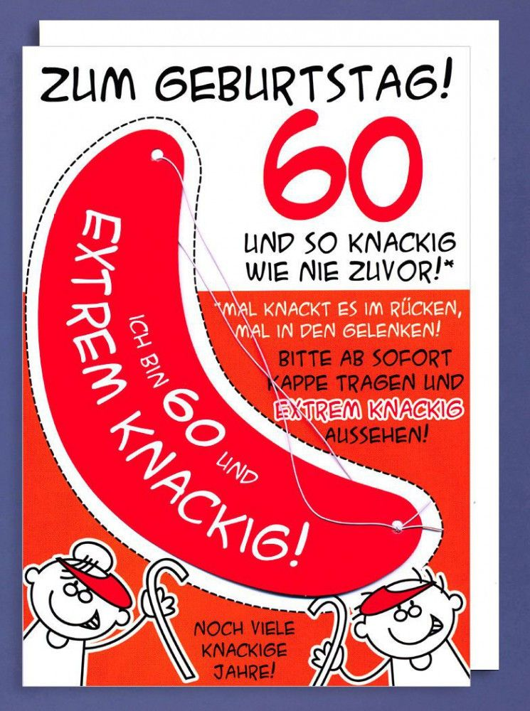 Lustige Geburtstagswunsche 60 Jahre New Riesen Grusskarte 60