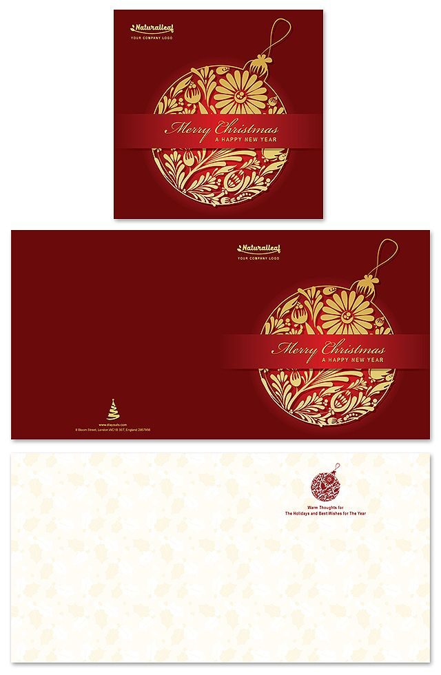 Christmas New Year Greeting Card Template Creative Brochure - new year brochure template