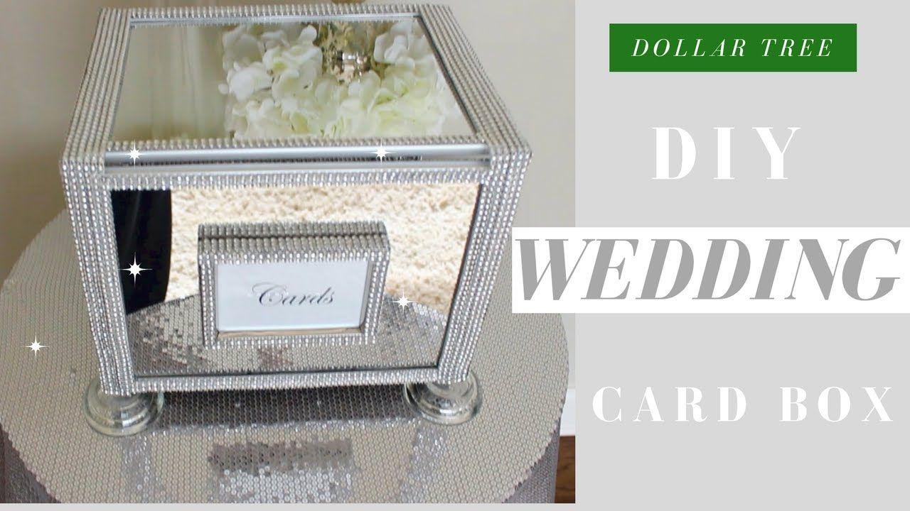 Diy wedding card box dollar tree bling wedding card box