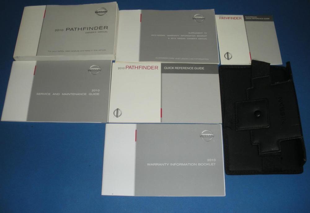 2010 Nissan Pathfinder Owners Manual Book Set Nissan Pathfinder Owners Manuals Pathfinder