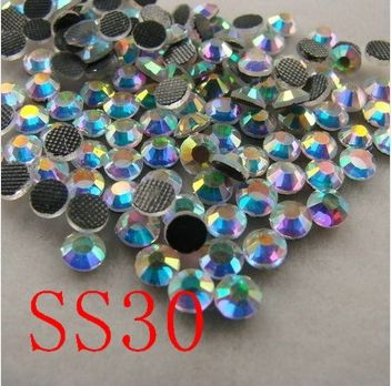 SS30 288PCS/BAG Crystal AB  DMC HotFix FlatBack Rhinestones,Hot Fix glitters iron on garment  shoes crystal  stone-in Rhinestones from Home & Garden on Aliexpress.com | Alibaba Group