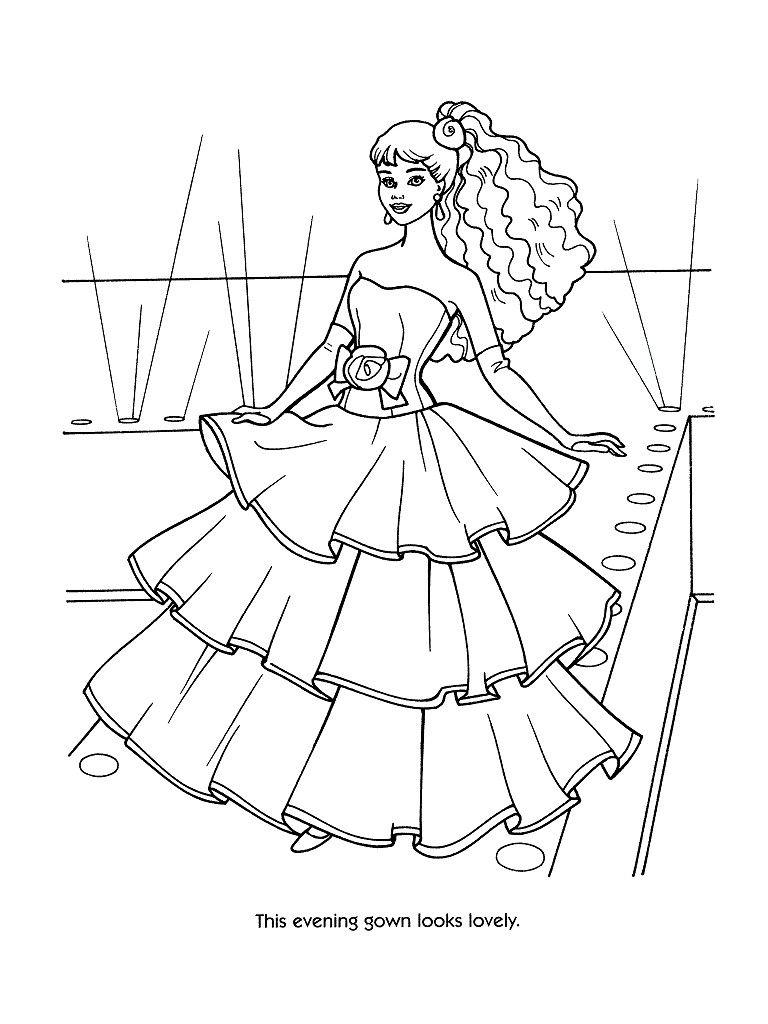 Barbie Wedding Dress Patterns Free Printable Princess Coloring Pages Barbie Coloring Barbie Coloring Pages