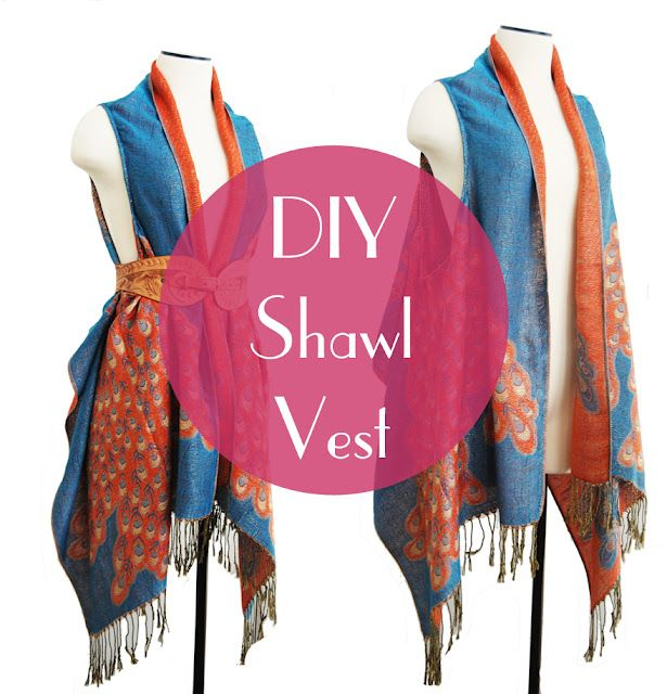 DIY draped vest
