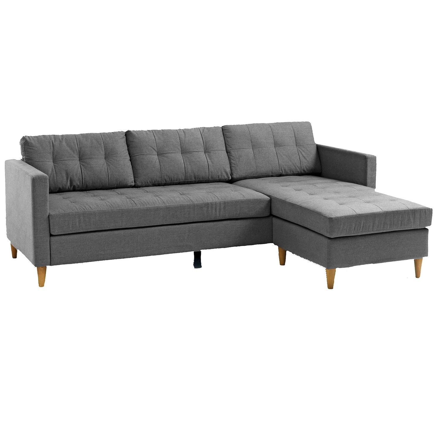FALSLEV 3 Seater Sofa Grey Scandinavian Home