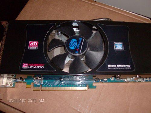 Sapphire Technology ATI Radeon HD 4870 256bit 1GB GDDR5 video card