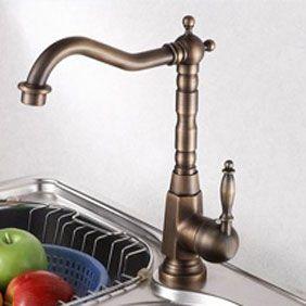 Centerset Antique Br Kitchen Faucet T0438
