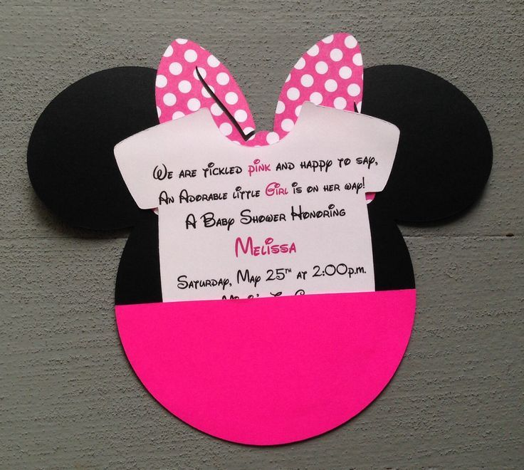 Baby Minnie Mouse Baby Shower Invitations Cumpleaños