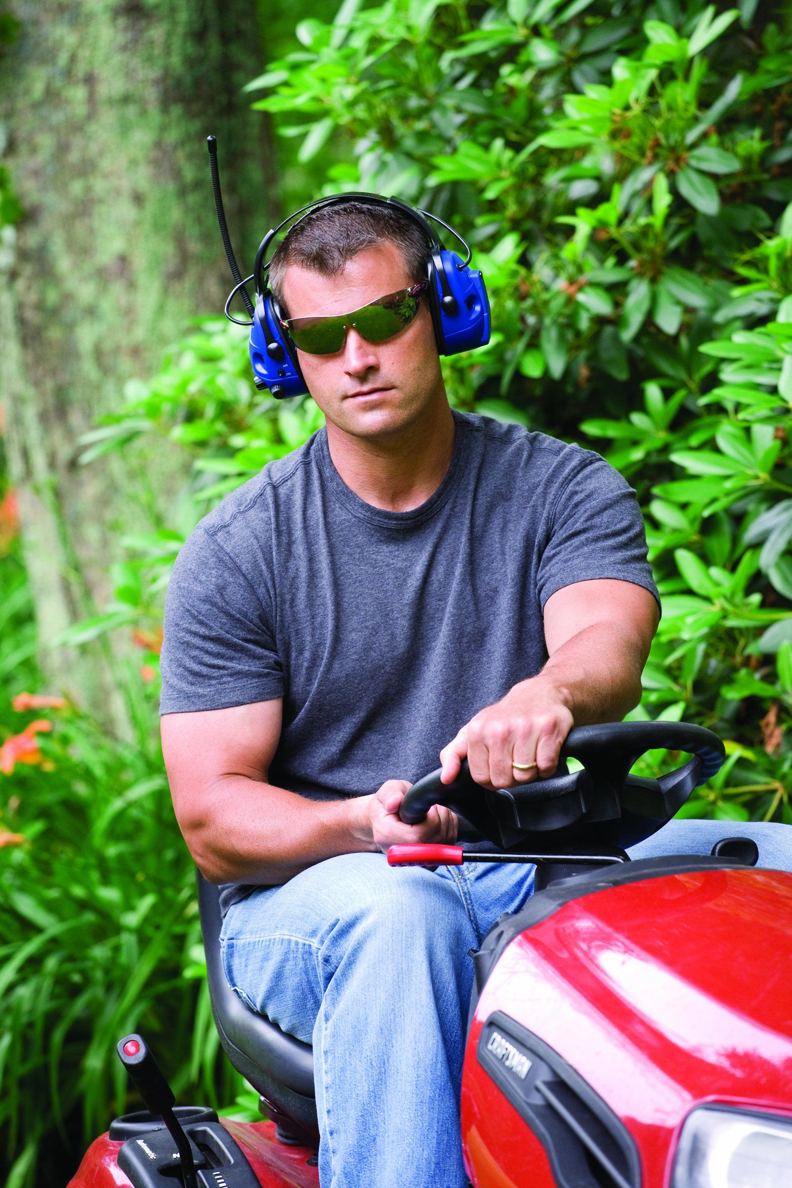 As Fun Listening To The Lawn Mower Is Why Not Protect Your Ears And