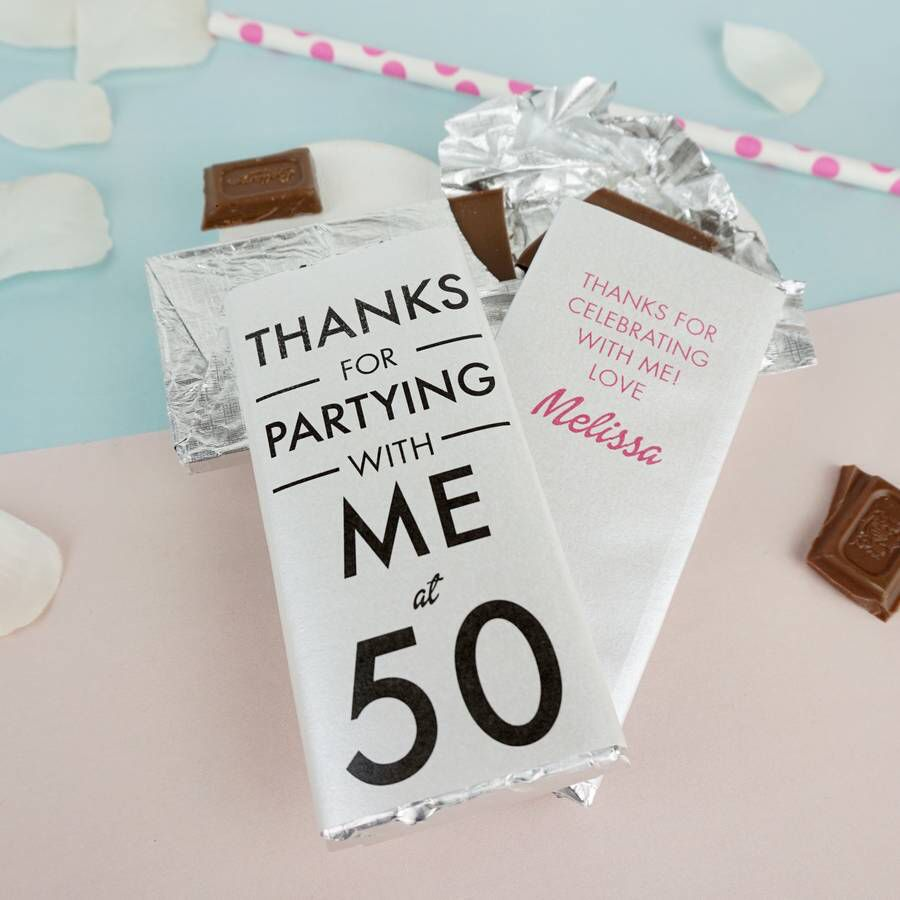 Special Year Personalised Chocolate Favour | Personalised chocolate ...