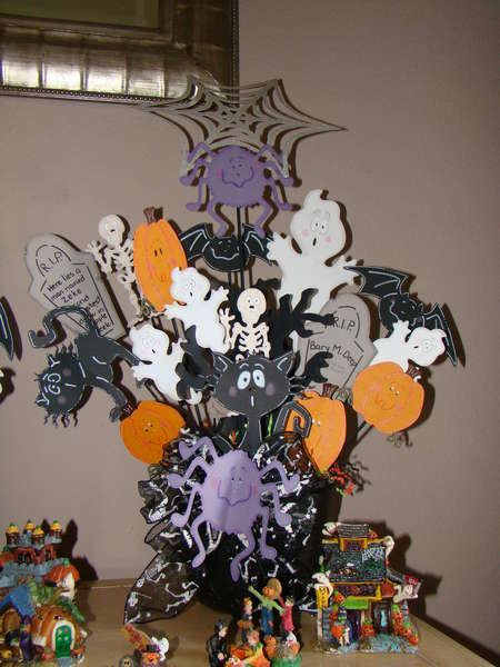 cricut halloween bouquet