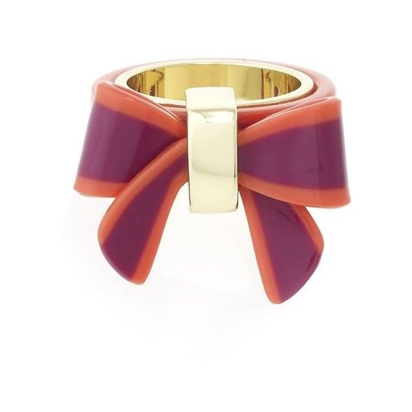 MARC By Marc Jacobs Jacobsen Bow Ring ($68) ❤ liked on Polyvore