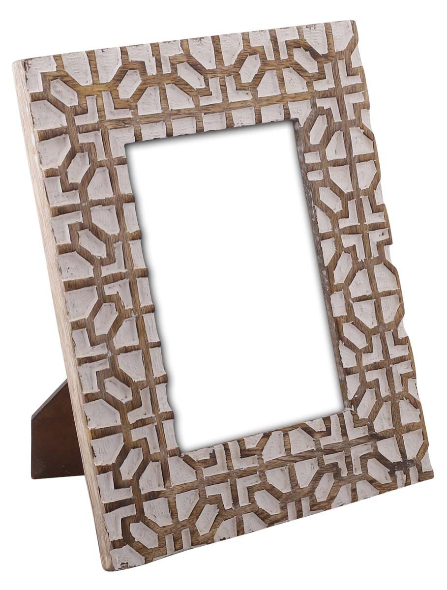 Bulk Wholesale Hand-Carved 5x7 Mango-Wood Photo Frame / Picture ...