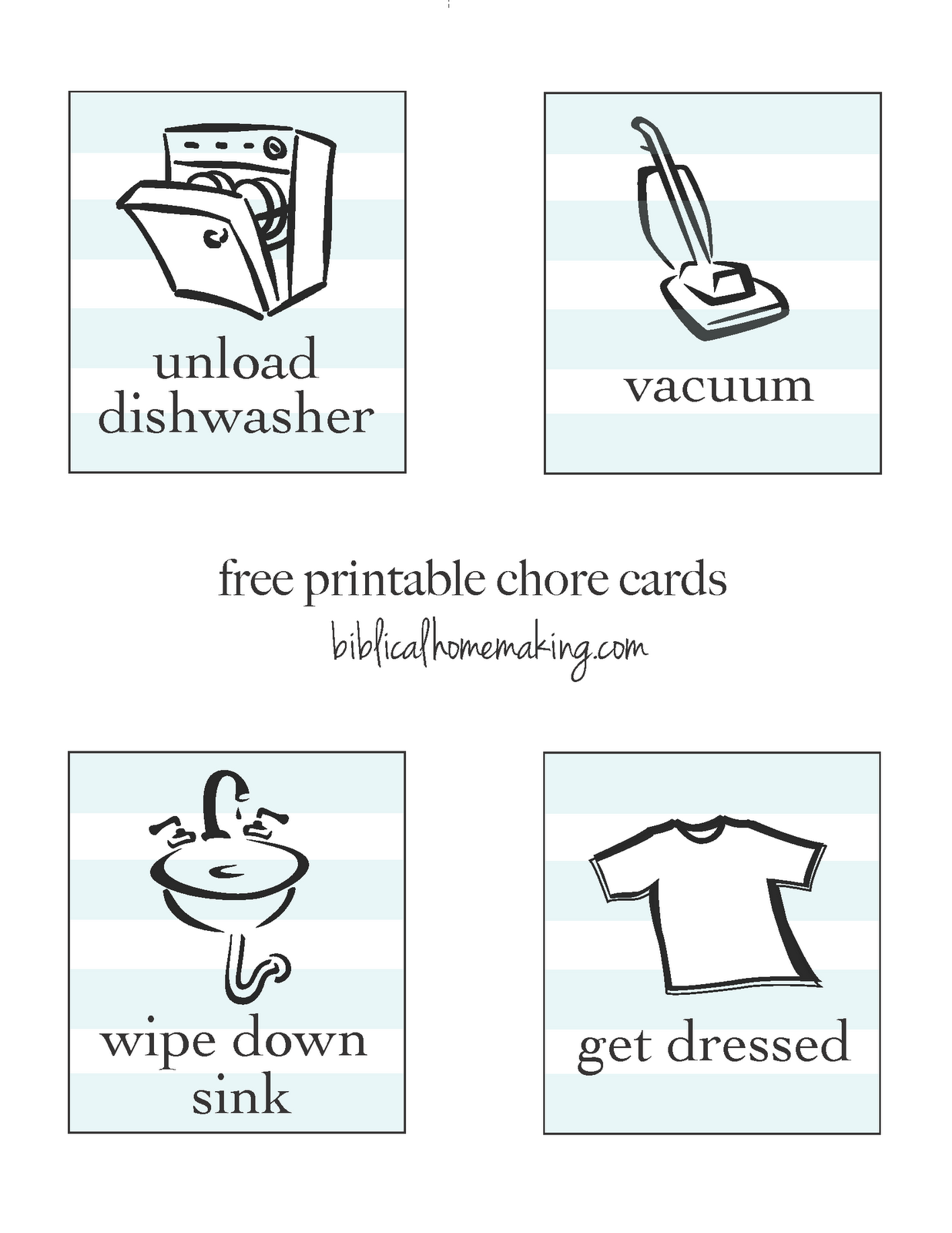 picture regarding Printable Chore Cards referred to as absolutely free printable chore playing cards guidebook Grandbabies