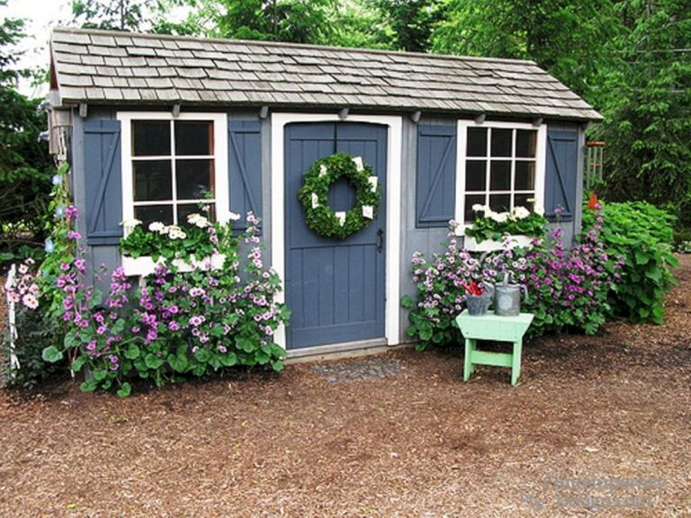 Garden Shed Paint Ideas Painted Shed Backyard Sheds Cottage Garden
