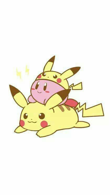 Kirby And Pikachu Kirby With The Pikachu Copy From Super Smash
