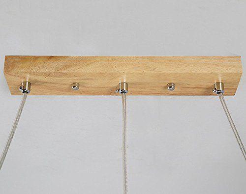 ZMH LED Pendelleuchte esstisch Deckenleuchte aus Holz und