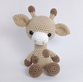 PATTERN: Gabe the Giraffe - Crochet giraffe pattern - amigurumi giraffe pattern - crocheted giraffe pattern - PDF crochet pattern #giraffepattern ******PLEASE NOTE: THIS PURCHASE IS ONLY FOR A DIGITAL CROCHET PATTERN, NOT THE FINISHED ANIMAL****** Create your own adorable giraffe in just a few hours! This easy-to-follow pattern includes one PDF file with detailed instructions and pictures on how to crochet and assemble all the parts to make this giraffe.  Only basic crocheting skills will be nee #crochetgiraffepattern