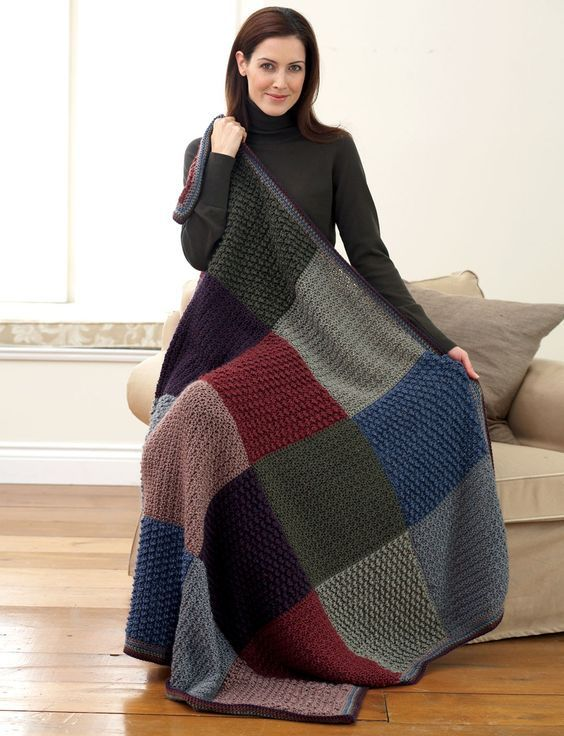 Yarnspirations Easy Level Bernat All Colors Afghan Free