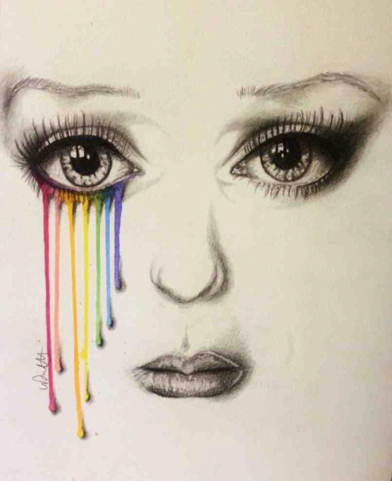 10+ Best For Girl Crying Rainbow Tears Drawing