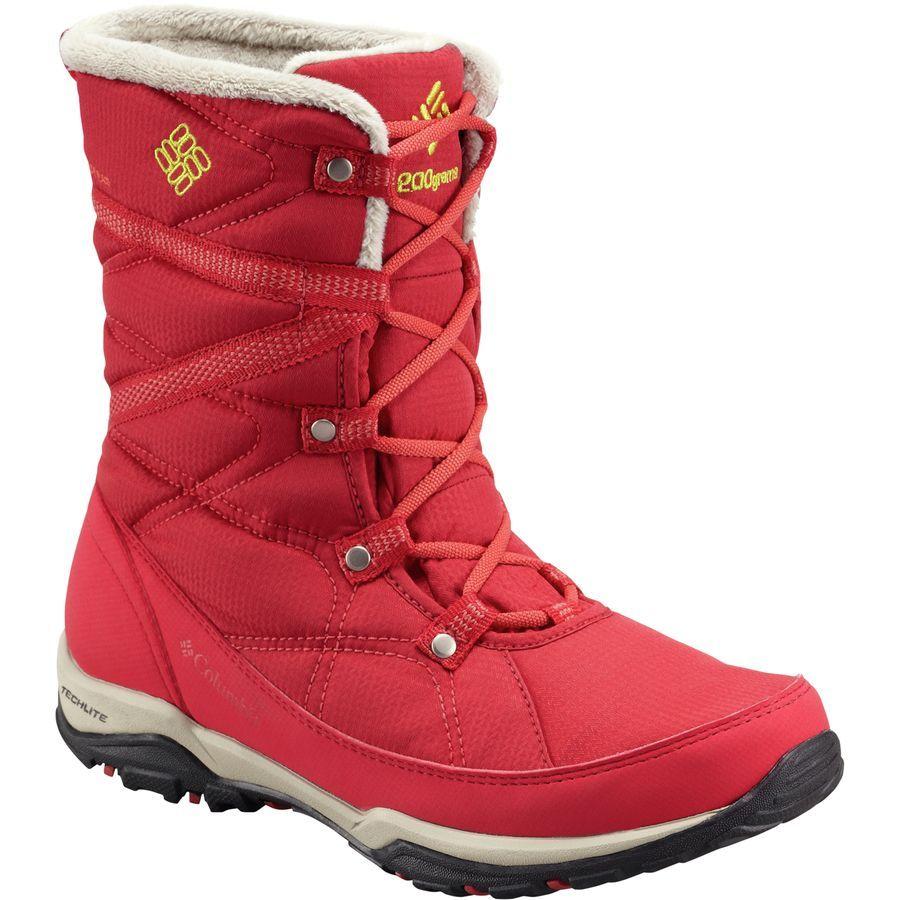 Columbia Boots Womens - Columbia Minx Fire Tall Omni Heat Waterproof Yellow