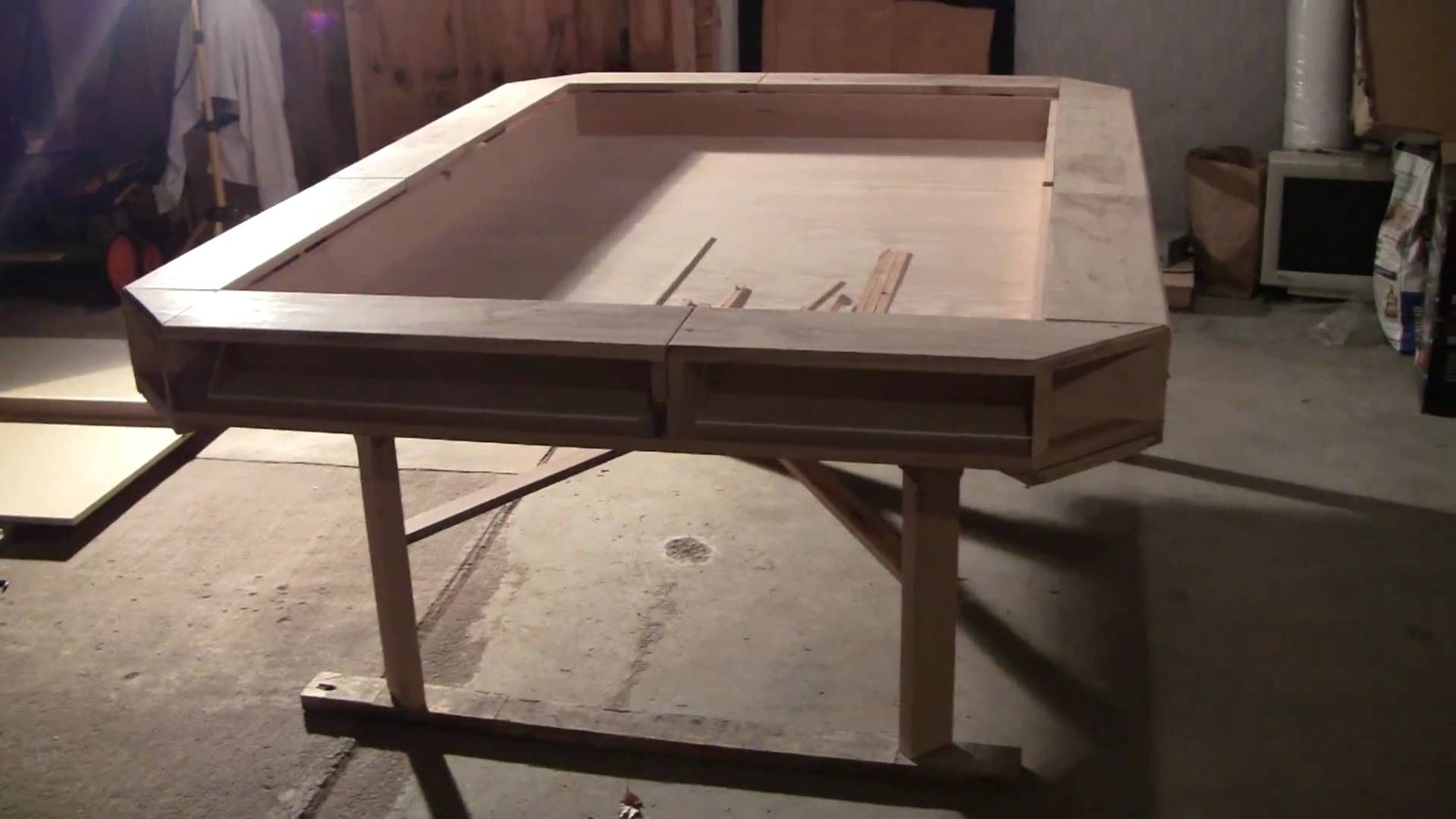 Cool Design For A Gaming Table With Interesting Fold Out Sections