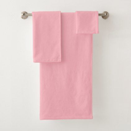 Light Pink Bath Towel Set Red Gifts Color Style Cyo Diy