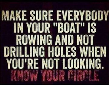 Know Your Circle Watch Your Back I Believe Life Quotes