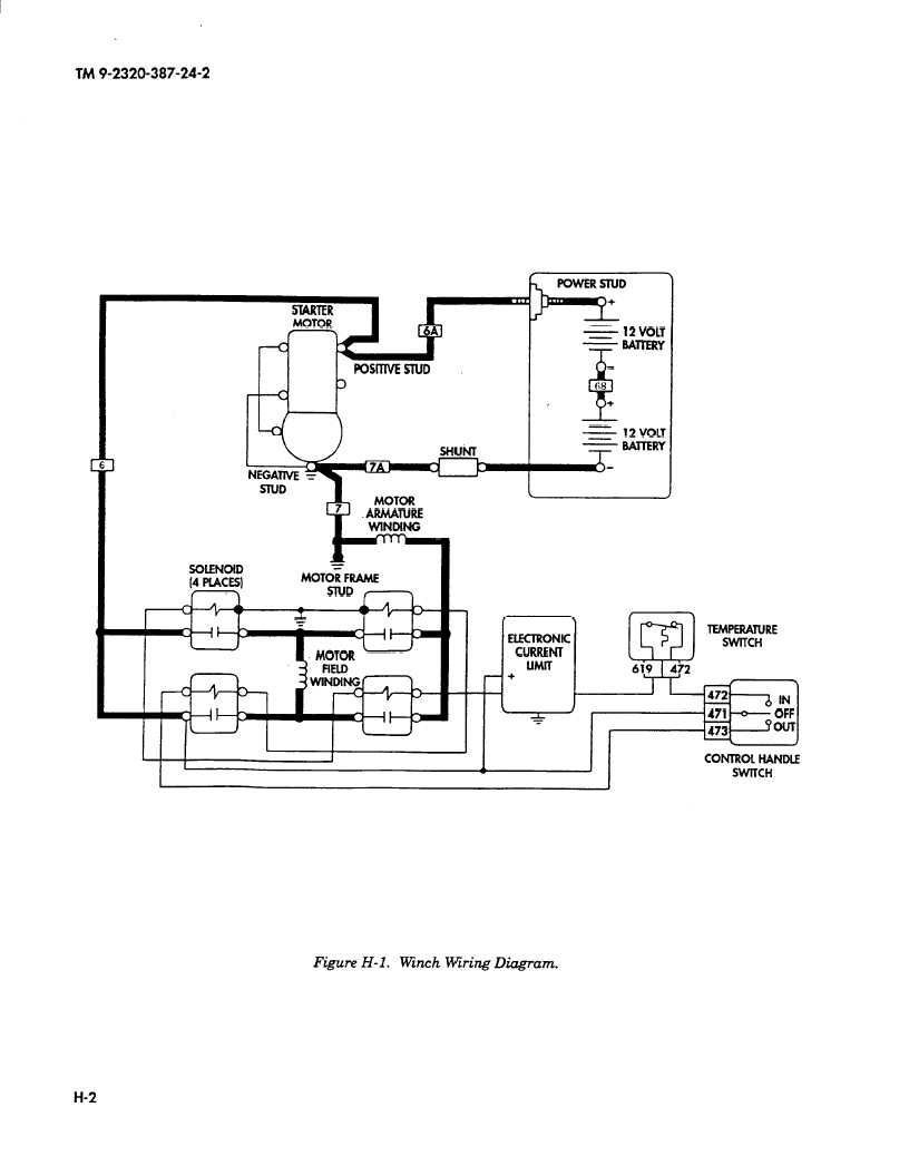 Wiring Diagram 12 Volt Electric Winch Electric Winch Electric Hoists Winch