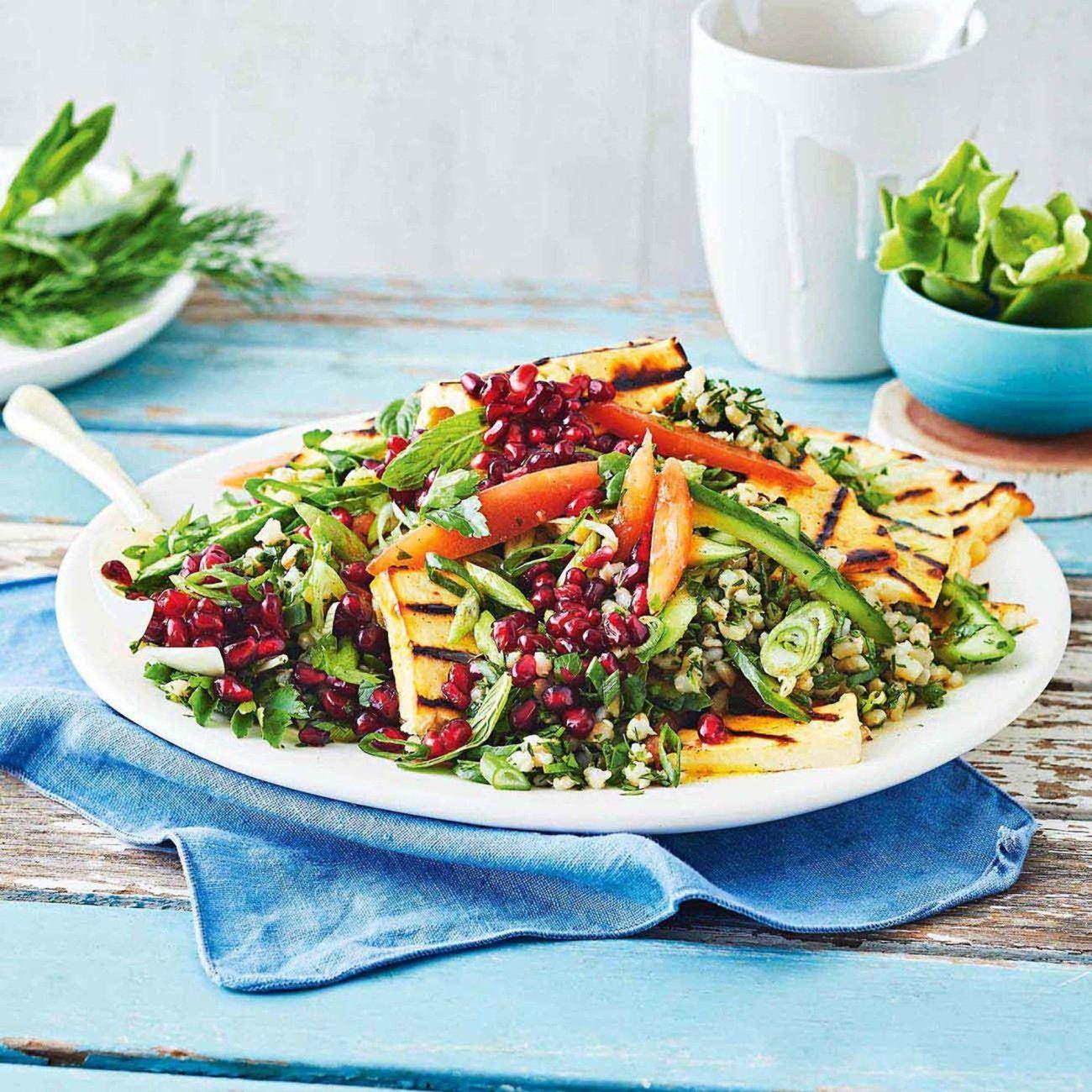 Barley tabouli recipe salad recipes stuffed peppers