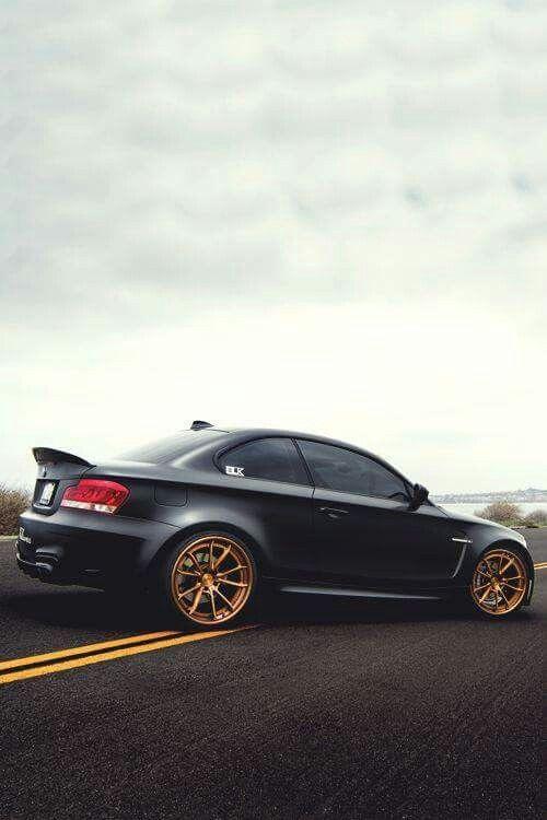 Bmw 1m Coupe Matte Black Bmw Bmw Cars Bmw 1 Series