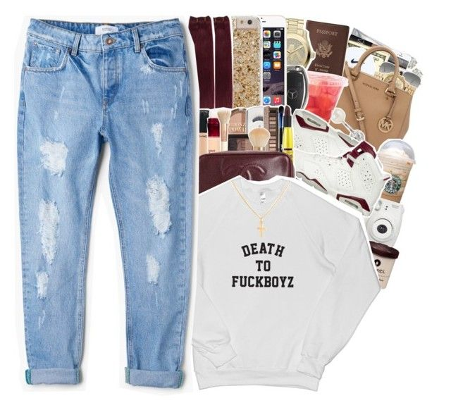 """"""" baby , it's been that way . """" by raytrendyme1 ❤ liked on Polyvore featuring interior, interiors, interior design, home, home decor, interior decorating, Ray-Ban, River Island, Royce Leather and MICHAEL Michael Kors"""