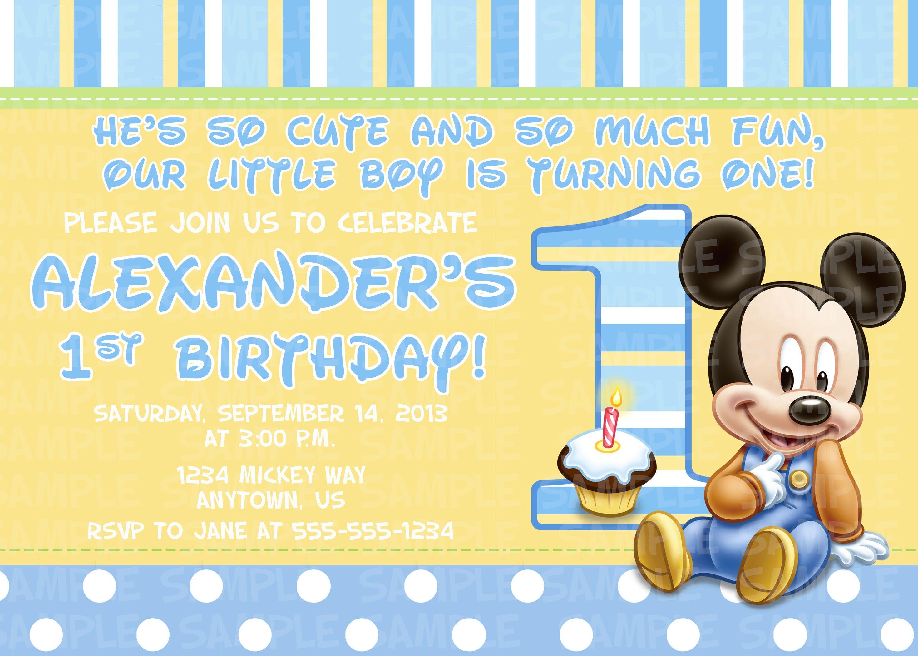 Lujo Bebé Mickey Mouse 1er Cumpleaños Para Colorear Embellecimiento ...