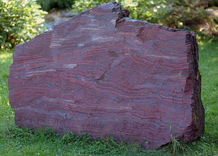 Banded iron formations (also known as banded ironstone formations or BIFs) are distinctive units of sedimentary rock that are almost always of Precambrian age2.1 billion year old banded iron formation