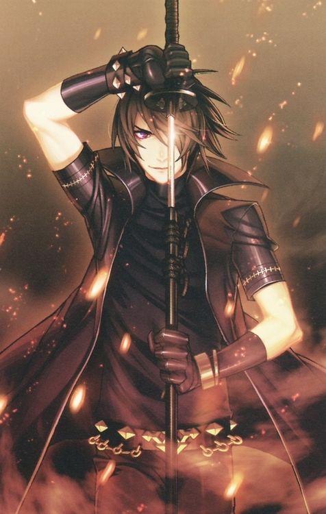 Anime Boy With Black Hair And Sword Action Wallpaper Milye Rebyata Anime Malchiki Iz Anime Anime Kosplej