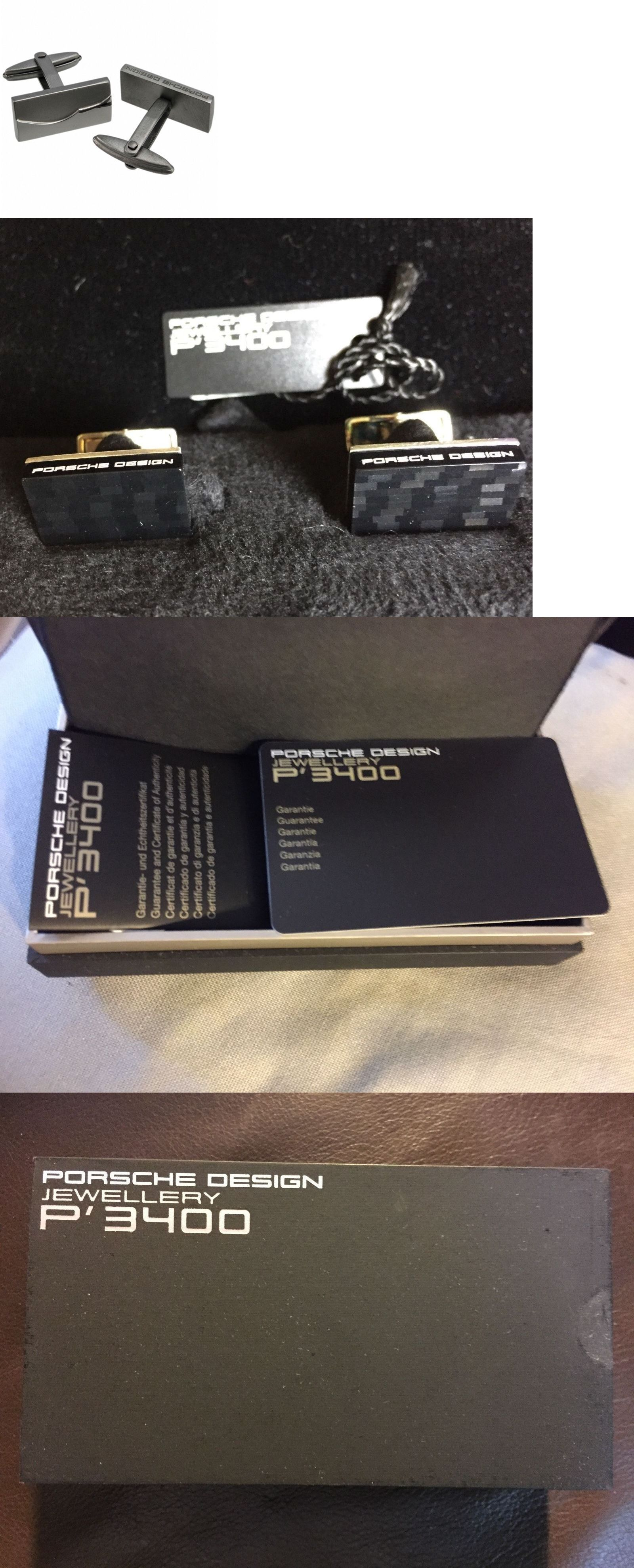 Cufflinks 137843: Porsche Design Black Acetate, Sterling Silver Cufflinks Nib W Brochure Etc 1525 -> BUY IT NOW ONLY: $255 on eBay!