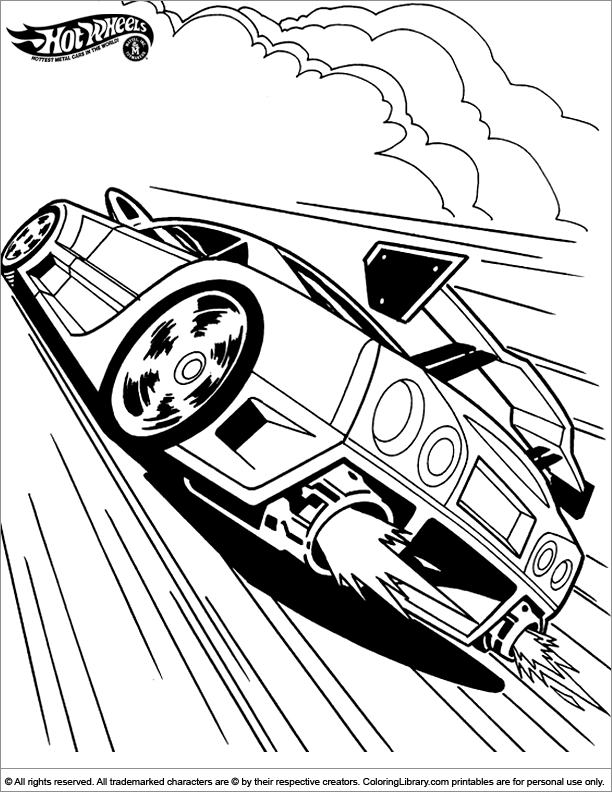 hot wheels coloring pages for kids | Tecknad serie | Pinterest ...