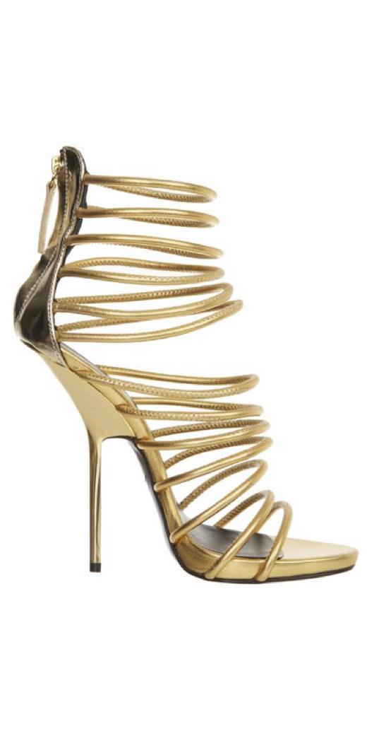 giuseppe zanotti gold sandals. zanotti make lower heels look