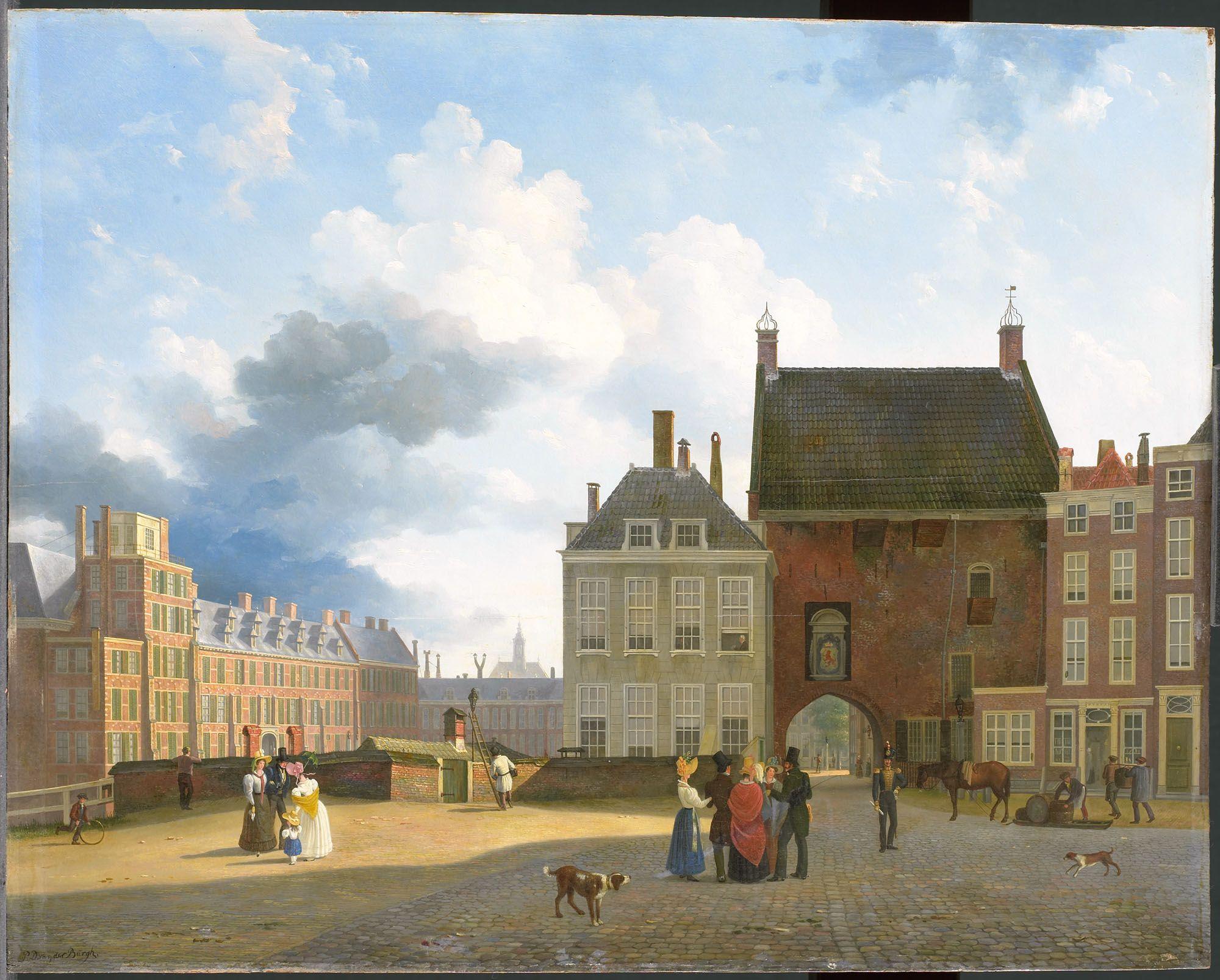 De Gevangenpoort en de Plaats te Den Haag Burgh, Pieter