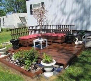 pin von gabriele br ckmann auf handwerken pinterest terrasse aus paletten palette und terrasse. Black Bedroom Furniture Sets. Home Design Ideas