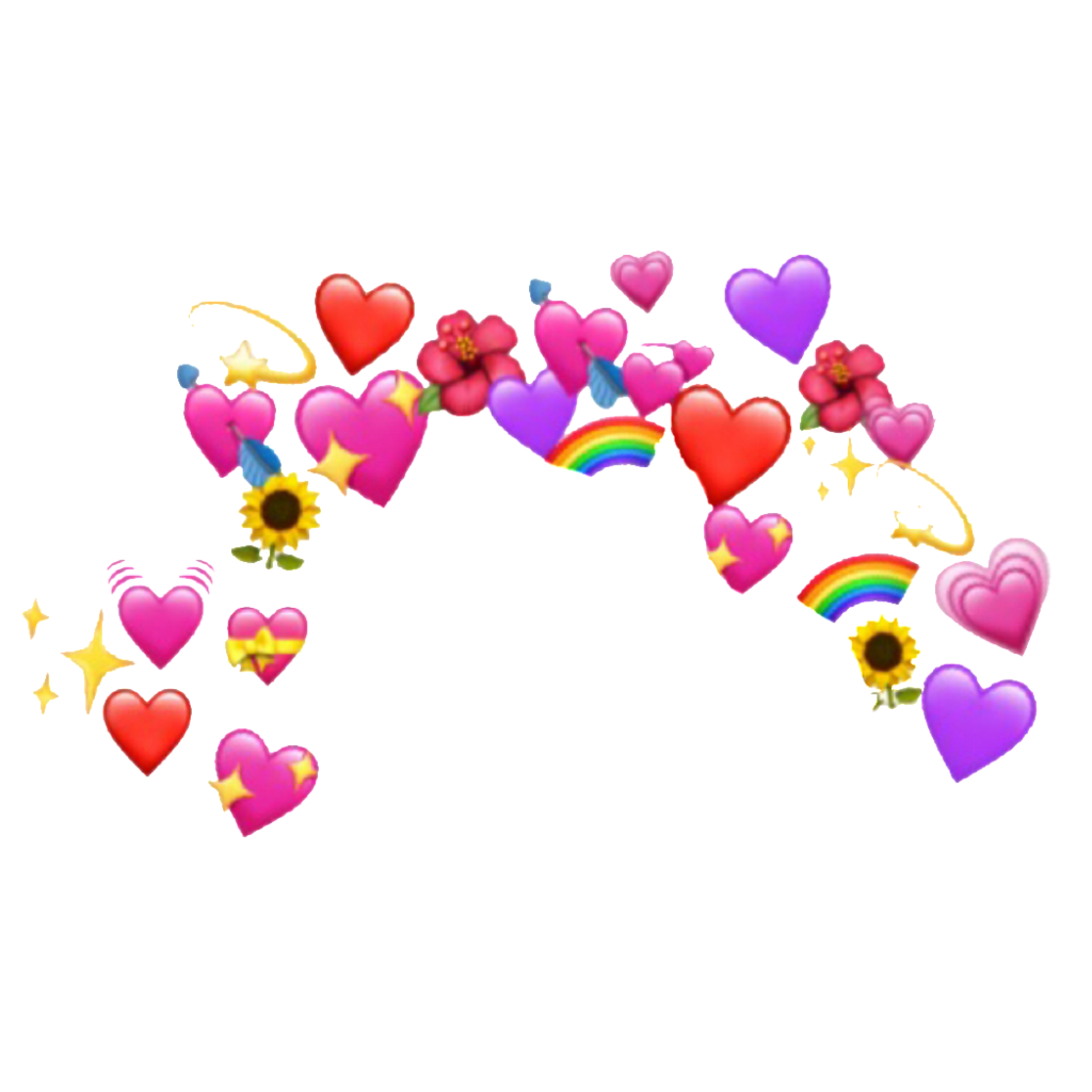 Freetoedit Aesthetic Heart Crown Emoji Tumblr Remixit In 2020 Pink Wallpaper Iphone Cute Emoji Wallpaper Emoji Backgrounds