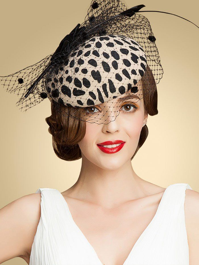 7eff5452560c4 Leopard Print Bow Mash Cocktail Hat