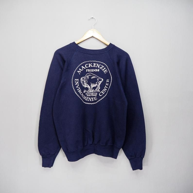 030fff4264195 Rare !! Vintage Mackenzie Environment Center Sweatshirt Big Logo in ...