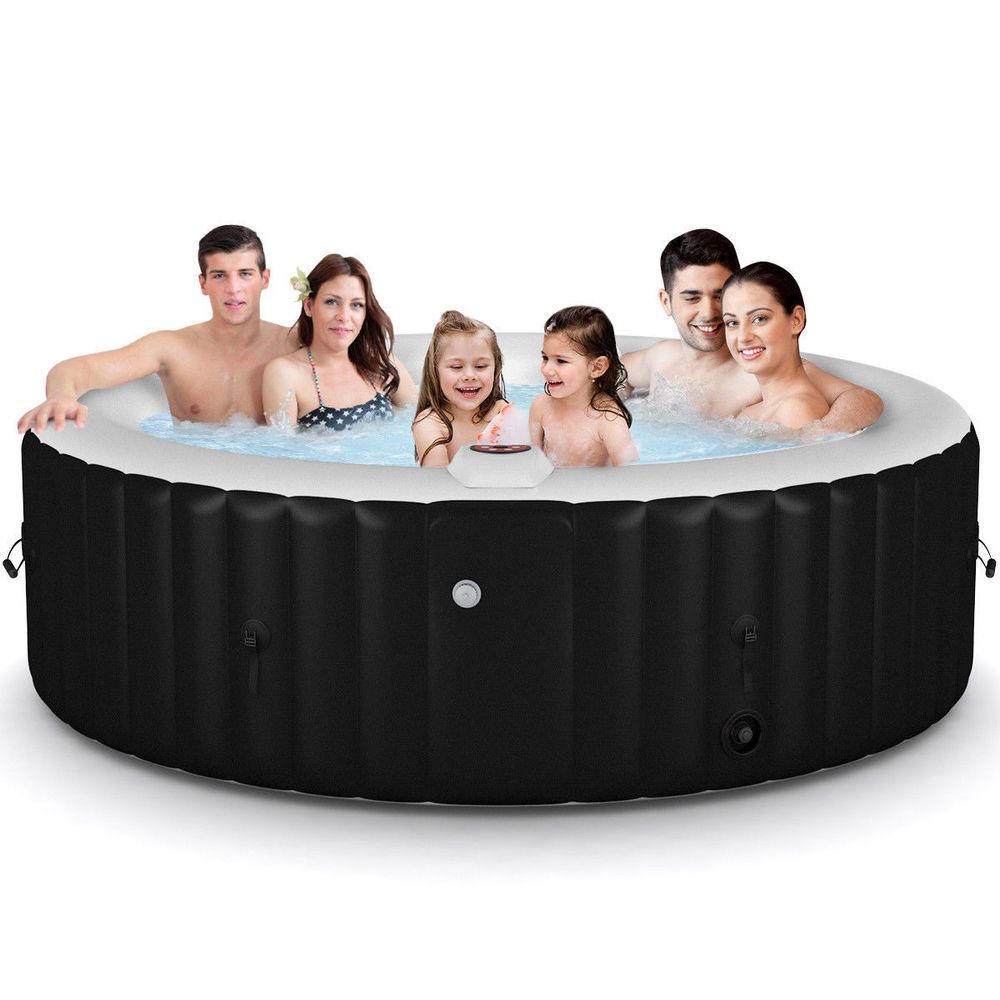 Outdoor Portable Inflatable Bubble Massage Spa Hot Tub 6 Person Relaxing Jacuzzi Jp Spa Hot Tubs Hot Tub Jacuzzi