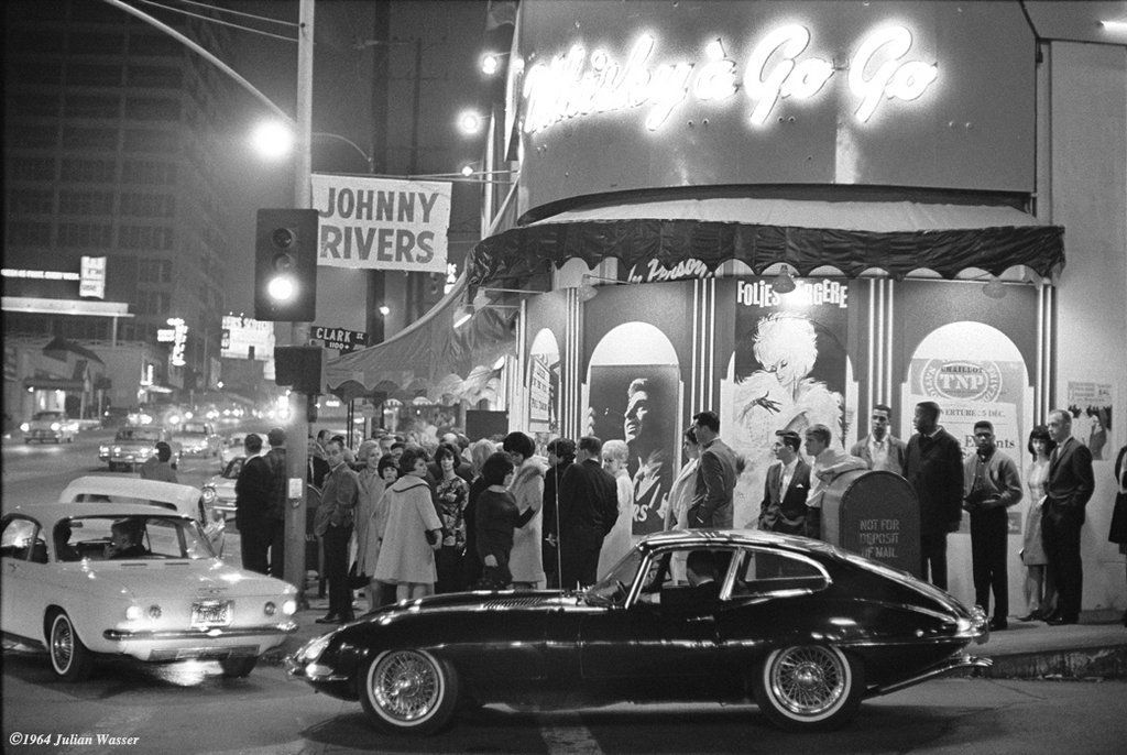 This the 2nd week of Jan in 1964 The famous Whisky A Go Go opened on the Sunset Strip in Hollywood Cali - Johnny Rivers was the house band - it would become the premier club on the Strip for the 60s heyday the Strip enjoyed.