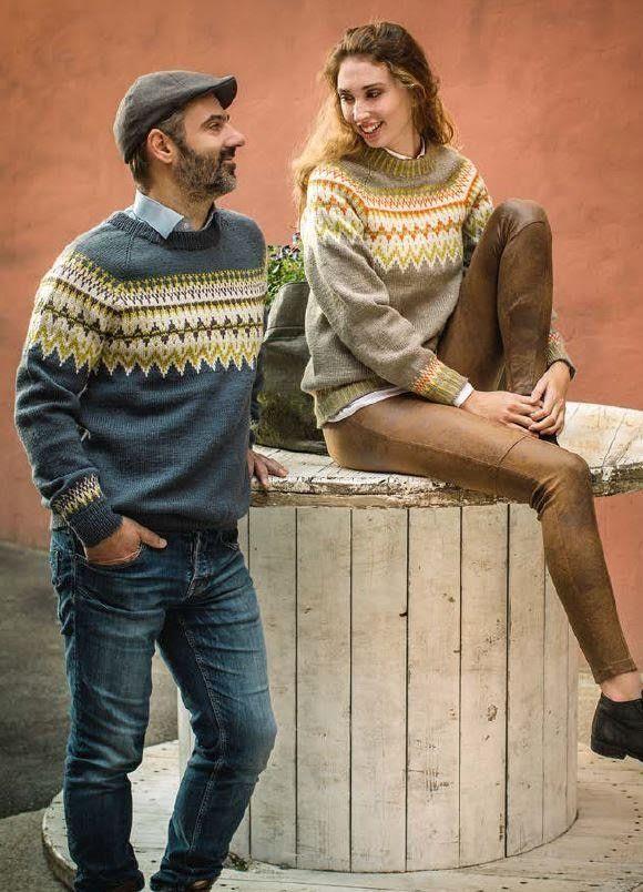 Norwegian Unisex Pullover Sweater Knitting Pattern From Dale Garn