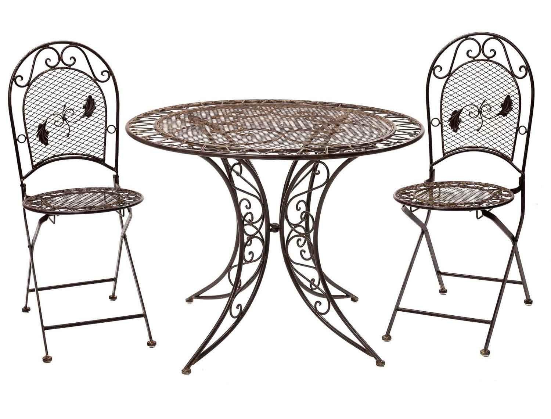 Gartenset Tisch 2 Stuhle Gartengarnitur Eisen Antik Stil
